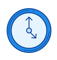 time management line icon vector image vector image