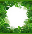 tropical leaves frame composition vector image