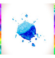 watercolor splash background set vector image vector image