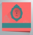 Weeding cards vector image vector image