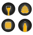 colorful beer icons vector image