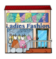 A ladies fashion store vector image vector image