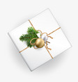 a mockup of a christmas gift box for your pattern vector image vector image