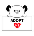 adopt me dog head face hanging on paper board vector image vector image