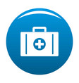 aid kit icon blue vector image vector image