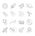astronomy and space symbols collection thin line vector image