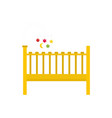 baby bed icon flat style vector image vector image