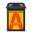Battery accumulato isolated vector image vector image