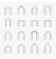 black icons arch silhouette vector image vector image