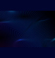 blue abstract wave and lines pattern stripe vector image