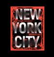 brooklyn remix typography t shirt graphics vector image vector image