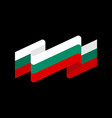 bulgaria flag ribbon isolated bulgarian tape vector image
