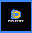 business corporate letter d logo design digital vector image