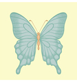 butterfly in a hand-drawn graphic style in vintage vector image
