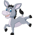 Cartoon happy donkey isolated on white background vector image vector image