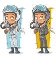 Cartoon set of pilots with cool helmets vector image vector image