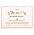 Certificate template design with emblem flourish vector image vector image