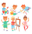 children playing different types of home vector image