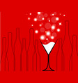 cocktail party red vector image vector image
