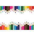 colorful pencils on white background vector image