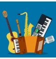 Concept of concert musical instruments vector image vector image