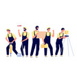 construction team engineer builder character vector image
