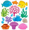coral reef theme collection 1 vector image vector image