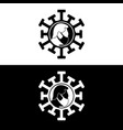 corona virus disease logo template vector image