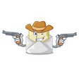 cowboy opened and closed envelopes shaped cartoon vector image vector image