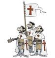 Crusaders vector image vector image