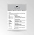 CV Resume template vector image vector image