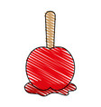 delicious candy apple icon imag vector image vector image