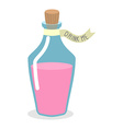 Drink Me potion Pinc Magic elixir in bottle for A vector image vector image