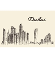 Dubai City skyline Hand drawn vector image vector image