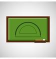 education concept blackboard with protractor vector image