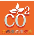 Flat design co2 sign dioxide vector image