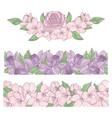 flower borders decoration clip art vector image vector image