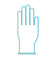 glove icon in degraded green to blue color contour vector image