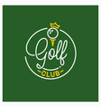 golf club logo round linear logo golf ball vector image