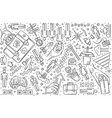 hand drawn career set doodle background vector image