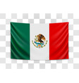 hanging flag mexico united mexican states vector image