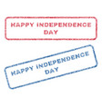 happy independence day textile stamps vector image vector image