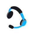 Headset icon isometric 3d style vector image vector image