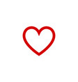 heart flat design icon for valentine day love vector image