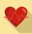 heart rate icon flat style vector image