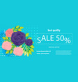 horizontal rose bud ultraviolet sale banner vector image