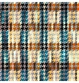 Hound-tooths plaid background vector image vector image