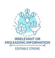 irrelevant or misleading information blue concept vector image vector image