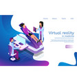 isometric banner virtual reality in medicine in 3d vector image