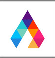 letter a colorful triangle logo template vector image vector image